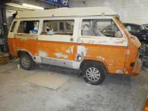 Classic camper van restoration